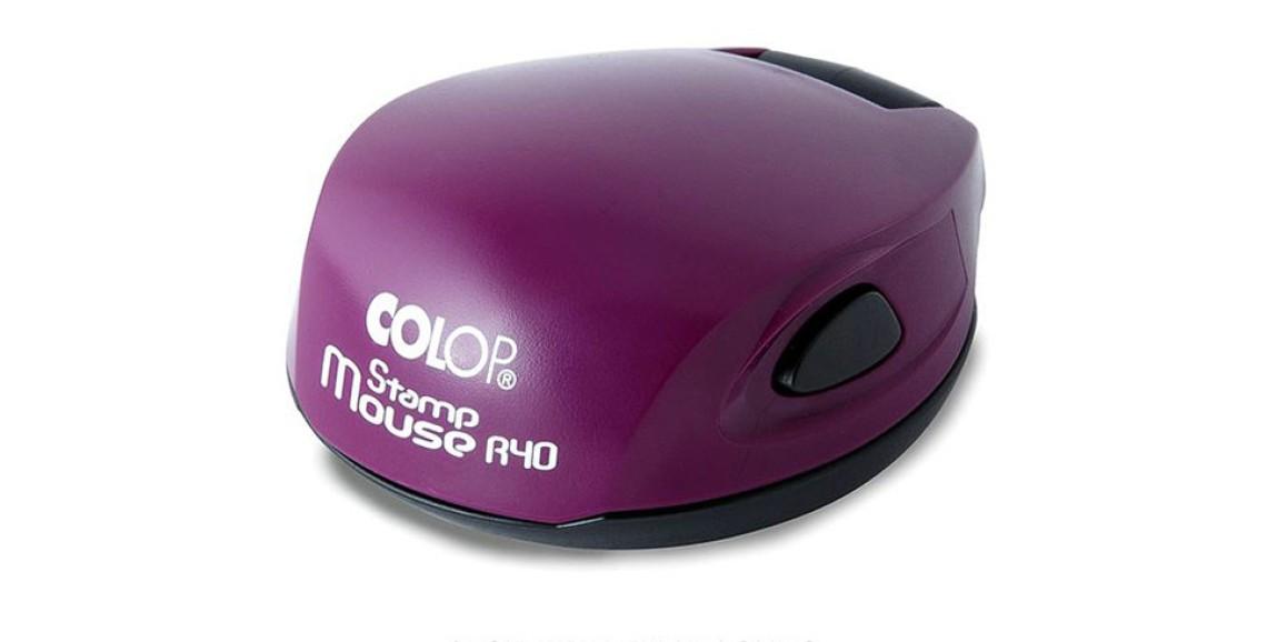 Печать Colop R40 mouse фиолетовая