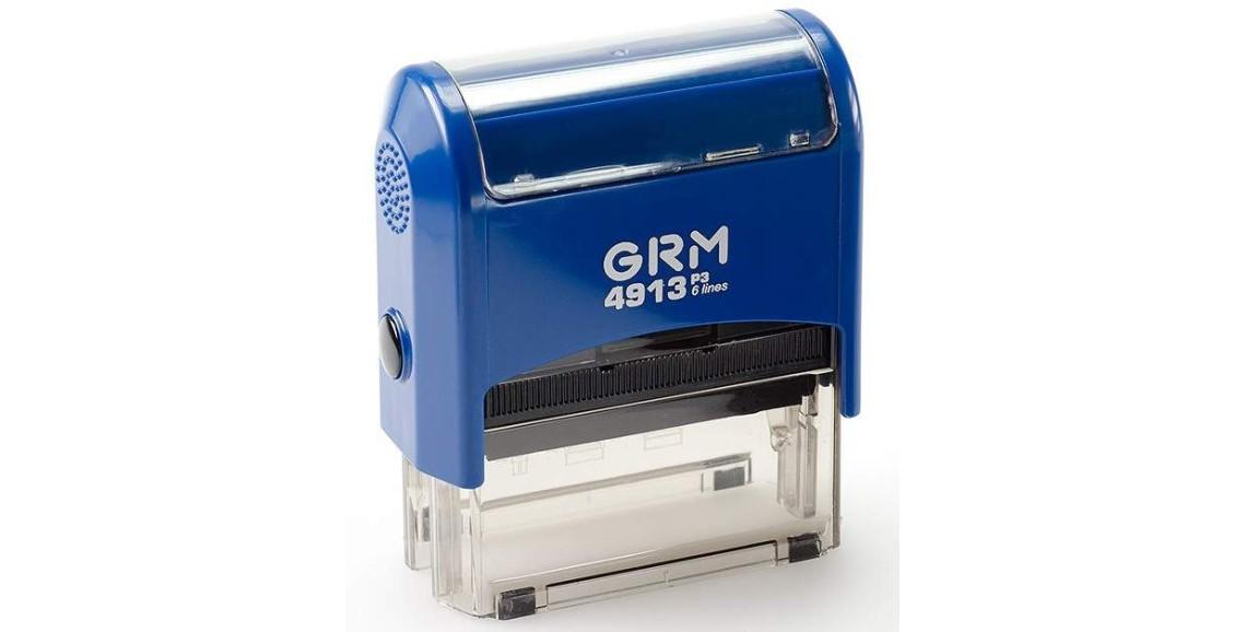 Штамп GRM-4913 (58х22) СИНИЙ